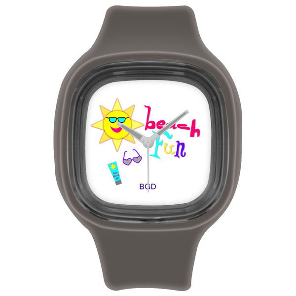 Beach Fun Custom Square Silicone Watch