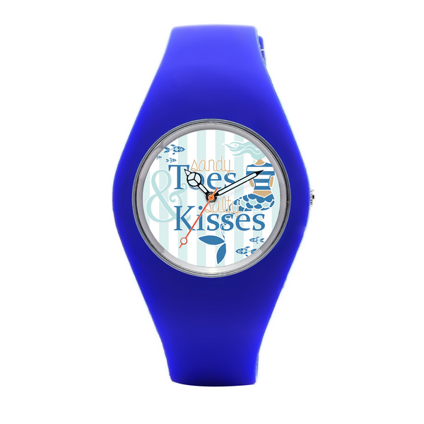 Sandy Toes & Salty Kisses Custom Silicone Watch