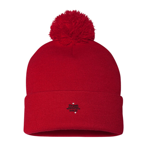 "Pom Pom ""Who Needs Snowflakes"" Knit Cap"