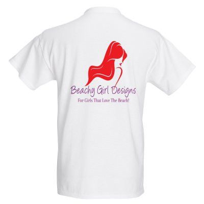 Basic T-Shirt Back Logo, (product type), (product vendor), (shop name)- Beachy Girl Designs