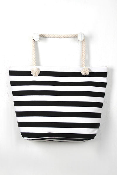 Beach Stripes Tote Bag, (product type), (product vendor), (shop name)- Beachy Girl Designs
