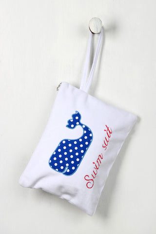Polka Dot Whale Swimsuit Mini Bag, (product type), (product vendor), (shop name)- Beachy Girl Designs
