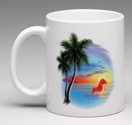 Beachy Girl Designs Beach Scene (With Logo) Coffee Mug, (product type), (product vendor), (shop name)- Beachy Girl Designs