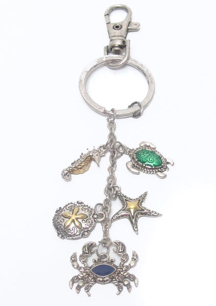 Starfish and Turtle Keychain