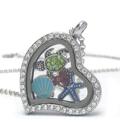 Sea Life Floating Charm Necklace
