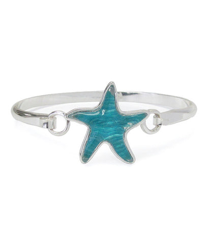 Puffy Starfish Bangle Bracelet