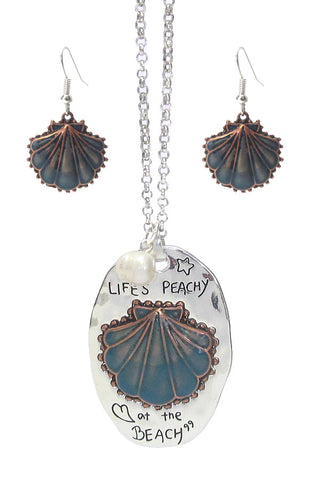 Life's Peachy at the Beach Necklace and Earrings