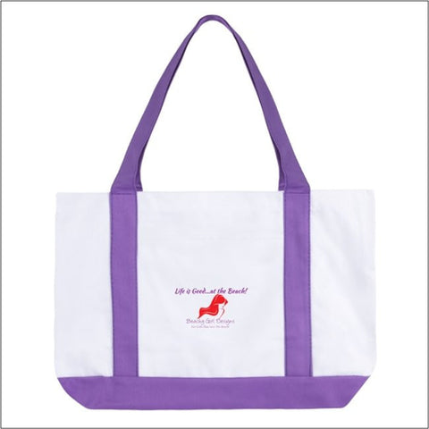 Large Boat Tote Bag-Life is Good, (product type), (product vendor), (shop name)- Beachy Girl Designs