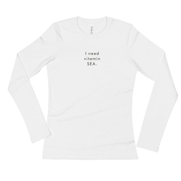 I Need Vitamin Sea Long Sleeve T-Shirt (Back Logo)