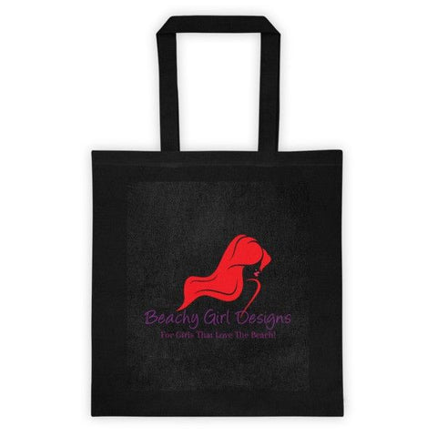 Canvas Tote Bag, (product type), (product vendor), (shop name)- Beachy Girl Designs
