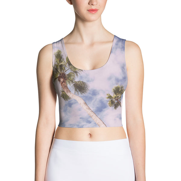 Palm Trees Sublimation Crop Top