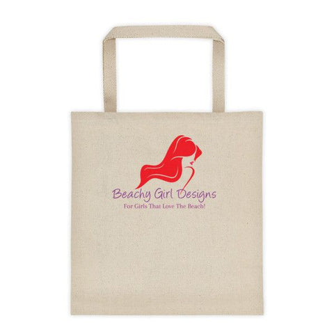 Beachy Girl Designs Canvas Tote Bag, (product type), (product vendor), (shop name)- Beachy Girl Designs