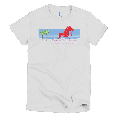 Beachy Girl Designs Short Sleeve Wome's T-Shirt (Beach Logo), (product type), (product vendor), (shop name)- Beachy Girl Designs