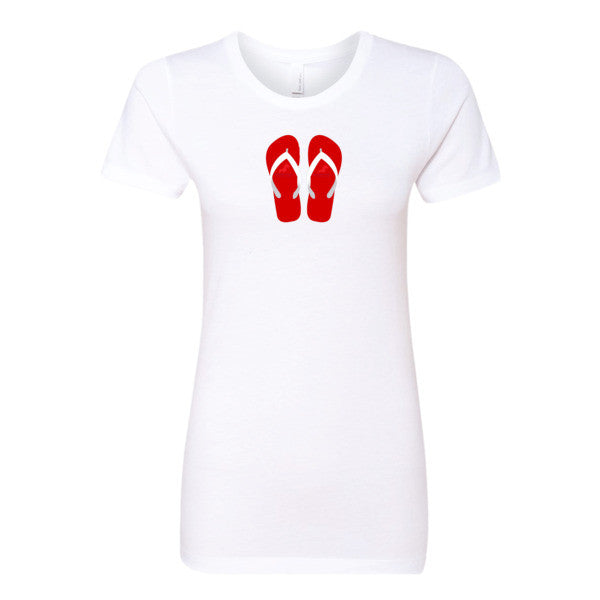 Women's Flip Flop T-Shirt, (product type), (product vendor), (shop name)- Beachy Girl Designs