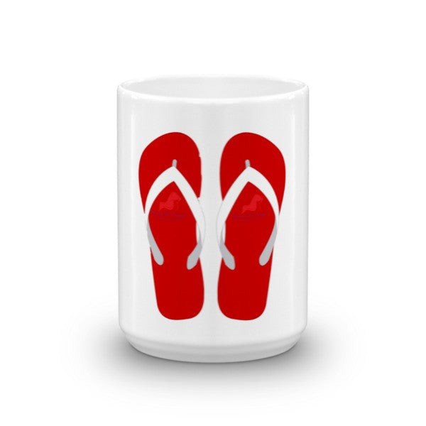 Beachy Girl Designs Flip Flop Coffee Mug, (product type), (product vendor), (shop name)- Beachy Girl Designs