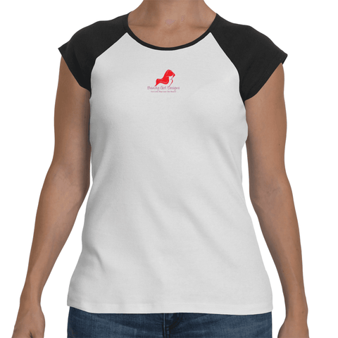 Ladies' Raglan Cap Sleeve T-Shirt, (product type), (product vendor), (shop name)- Beachy Girl Designs