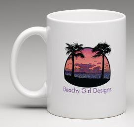 Beachy Girl Designs Beach Scene Coffee Mug, (product type), (product vendor), (shop name)- Beachy Girl Designs