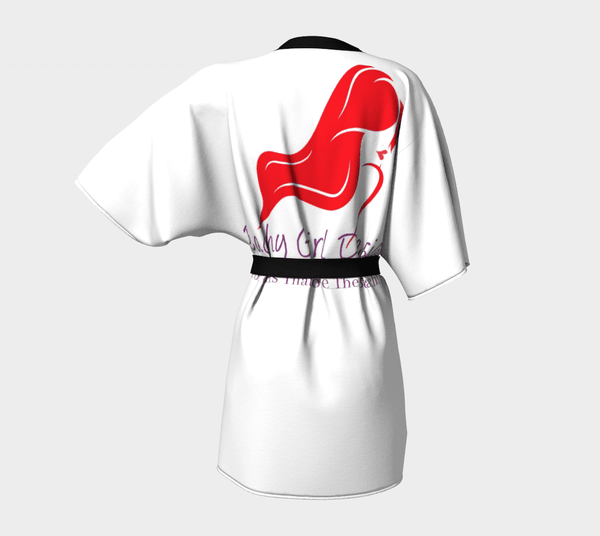 Beachy Girl Designs Kimono Robe-Back Headshot/Logo, (product type), (product vendor), (shop name)- Beachy Girl Designs