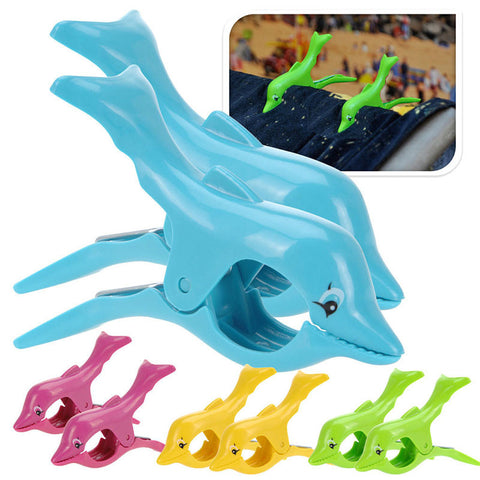 Dolphin Designed Beach Towel Clips