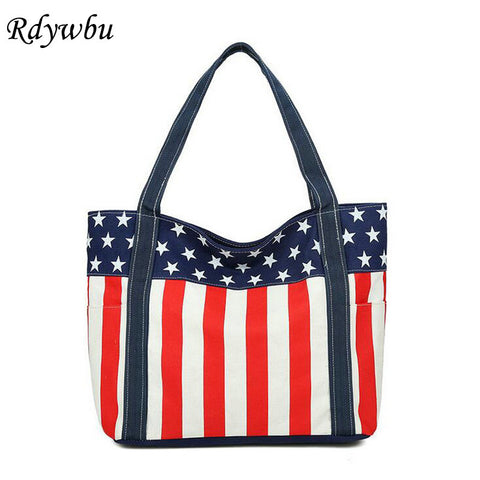 Stars and Stripes Printed Tote Bag