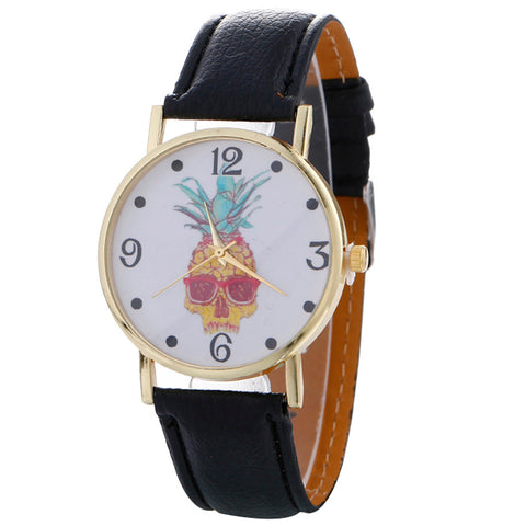 Stylish Pineapple Leather Wrist Watch