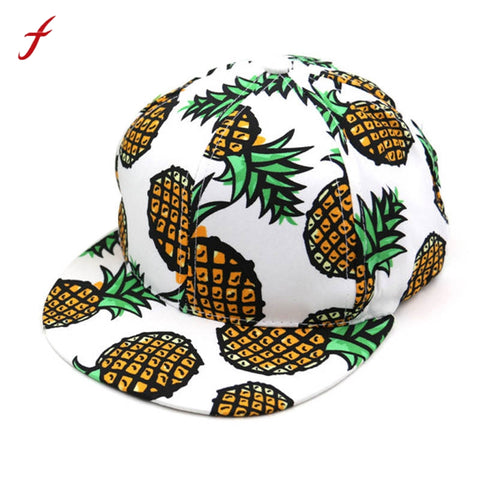 Pineapple Print Baseball Hat