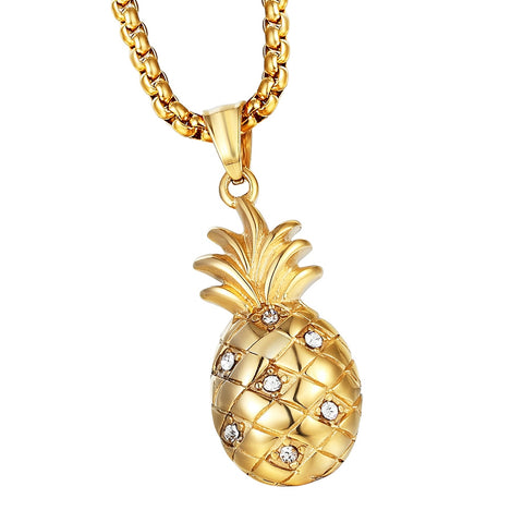 Diamond Pineapple Pendant Necklace