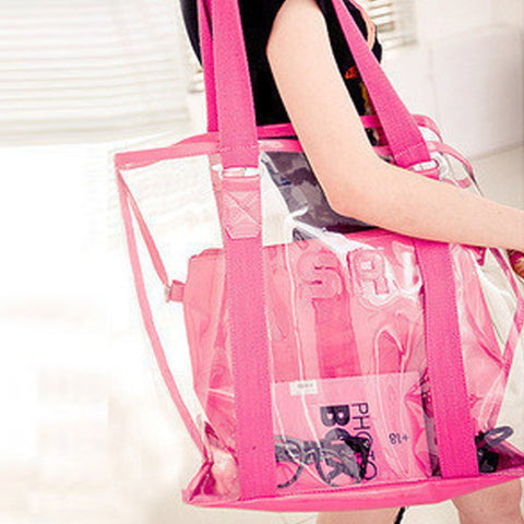 Beach Jelly Candy Color Transparent Waterproof Bag