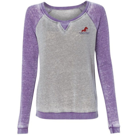 Ladies' Zen Fleece Raglan Sleeve Crewneck Sweatshirt, (product type), (product vendor), (shop name)- Beachy Girl Designs