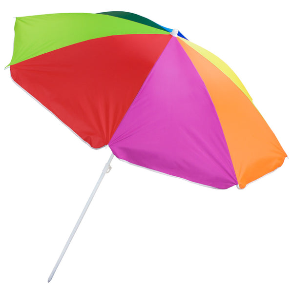 Rainbow Beach Umbrella, 6-foot, (product type), (product vendor), (shop name)- Beachy Girl Designs
