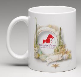 Beachy Girl Designs Seashells Coffee Mug, (product type), (product vendor), (shop name)- Beachy Girl Designs