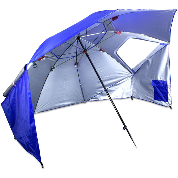2-in-1 7' Sun Shelter and Beach Umbrella, Blue, (product type), (product vendor), (shop name)- Beachy Girl Designs