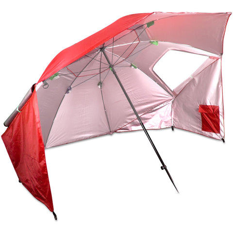 2-in-1 7' Sun Shelter and Beach Umbrella, Red, (product type), (product vendor), (shop name)- Beachy Girl Designs