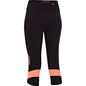 Under Armour Ladies Fly-By Compression Capri 3/4 Pants Black/Reflective/Pink