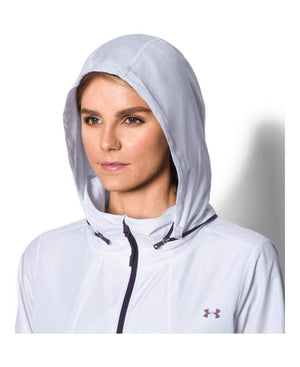 UnderArmour UA Accelerate Pckbl Jacket - White/Imperial Purple