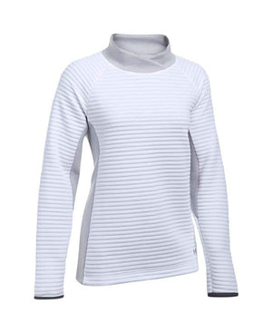 Under Armour Ladies Insulated Shawl Neck Pullover White/Grey X-Large