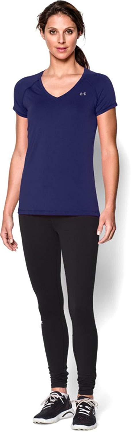 Under Armour Ladies Heat Gear Short Sleeve Base Layer T-Shirt
