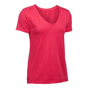Under Armour Ladies Microthread Scoop V-Neck T Shirt