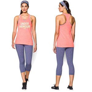 Under Armour Ladies Workout T-Shirt Linear Tank