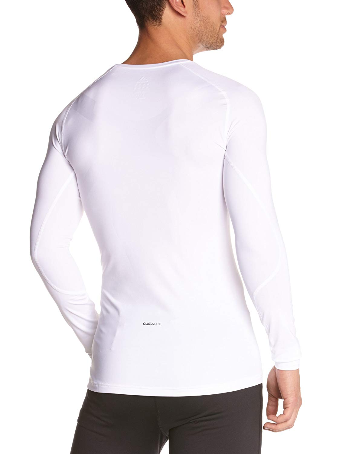 Adidas Men's Base Layer Tech Fit, T-Shirt Long Sleeve White