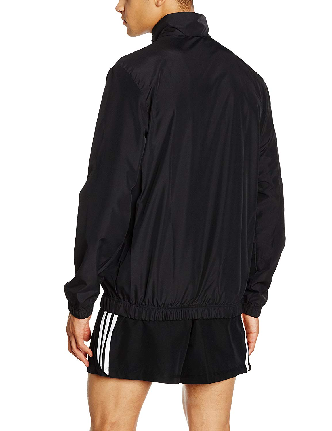 Adidas Men's Core Windbreaker Jacket Black