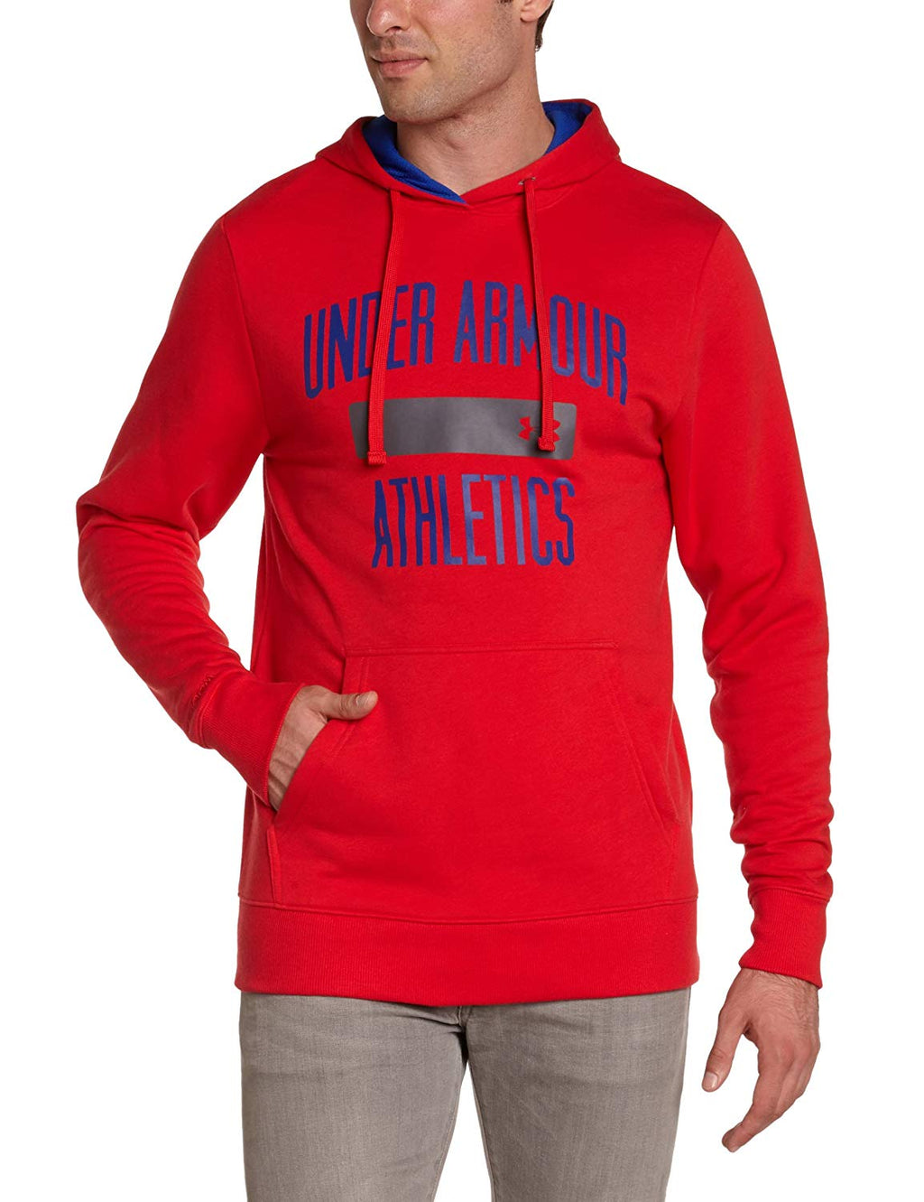 Under Armour Men's Hooded Sweat-Shirt Charged Cotton Big Logo