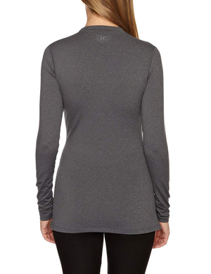 Under Armour Ladies Long Sleeve Cold Gear Fitted Crew Grey