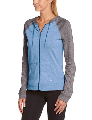 Under Armour Ladies Racing T-Shirt Long Sleeve Blue