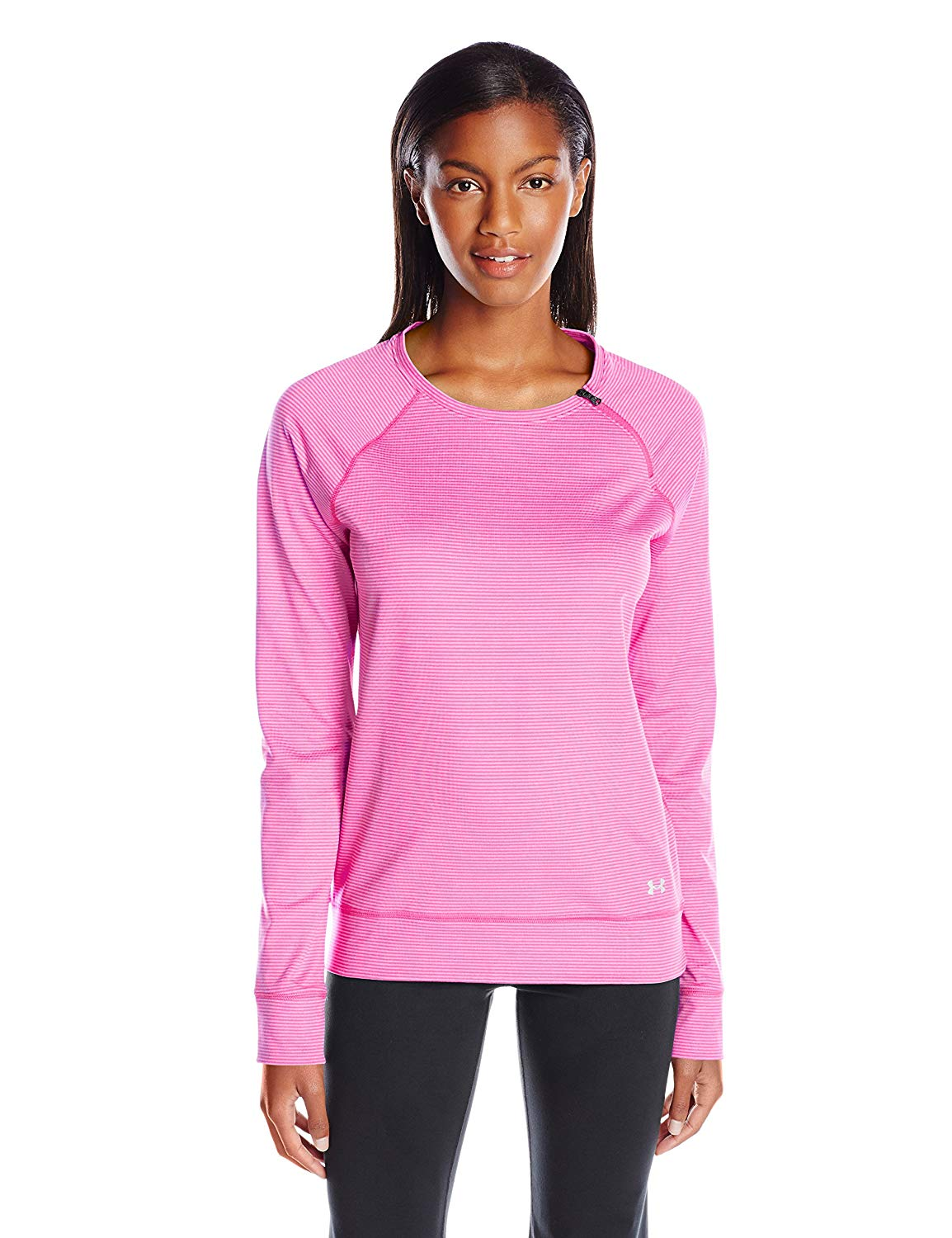 Under Armour Ladies ColdGear Fitness T-shirt Tank Loose Cozy Zip Crew