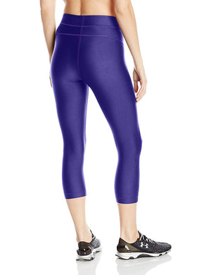 Under Armour Ladies Heat Gear Cools Witch Capri Running Leggings Purple