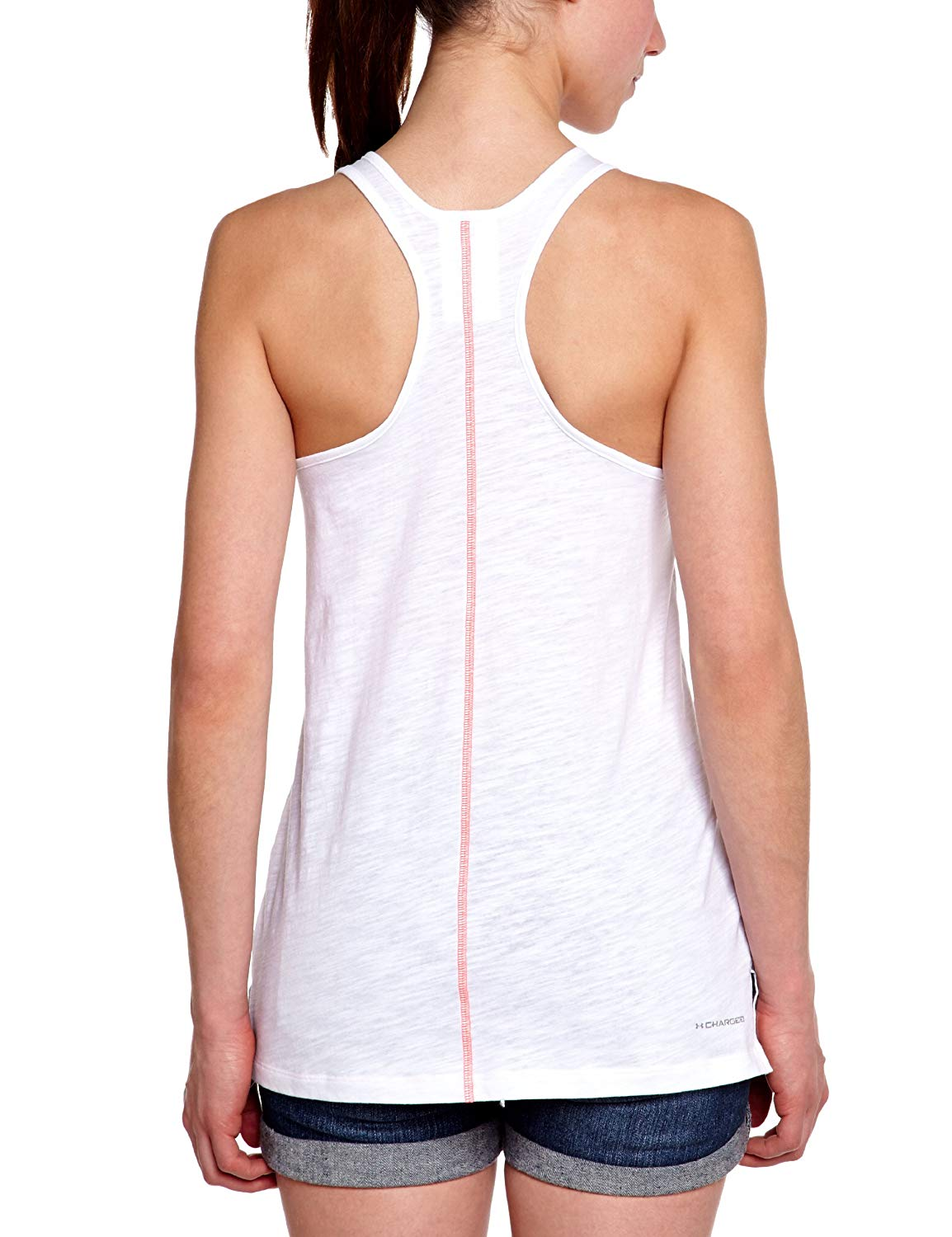 Under Armour Q2 Slub Ladies Tank Top White