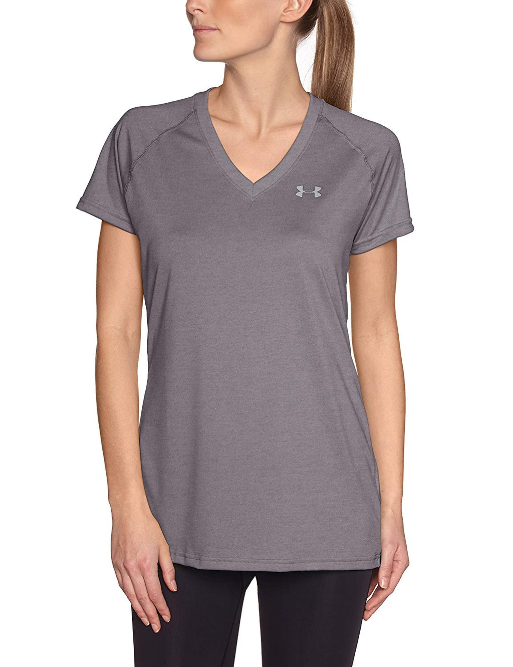 Under Armour Tech Short Sleeve V-Neck Ladies T-Shirt
