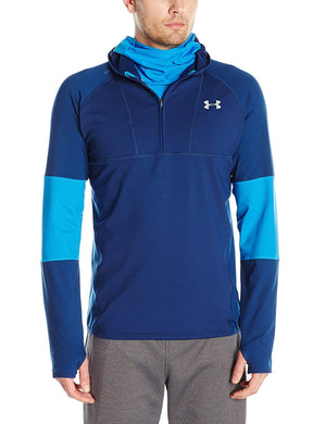Under Armour Mens No Breaks Balaclava Running Jumper - Blue