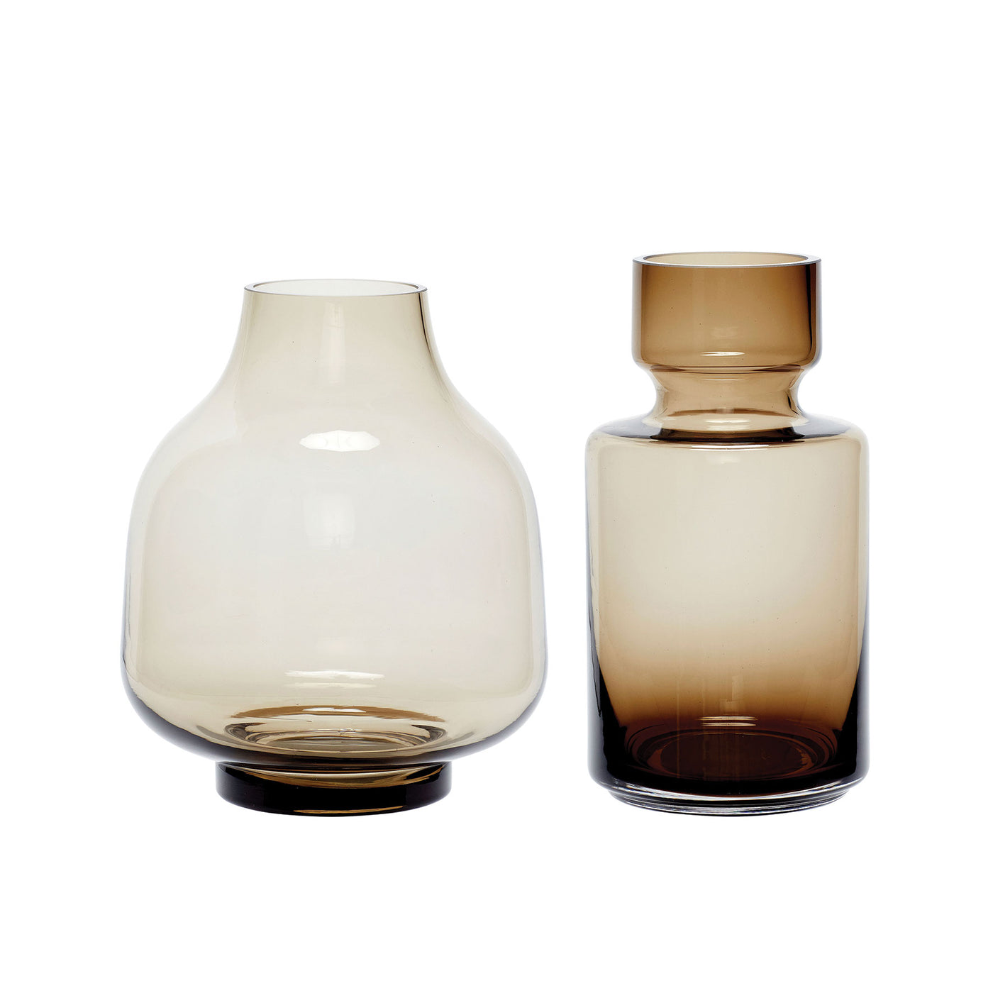 Amber Glass Vases · Set of 2